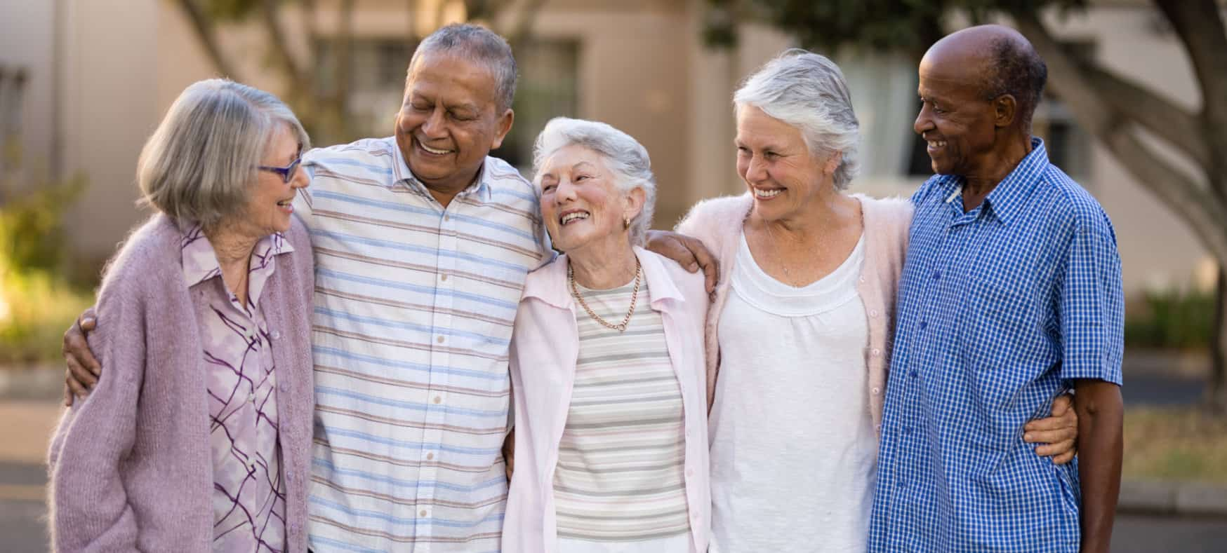old people showing their genuine smile